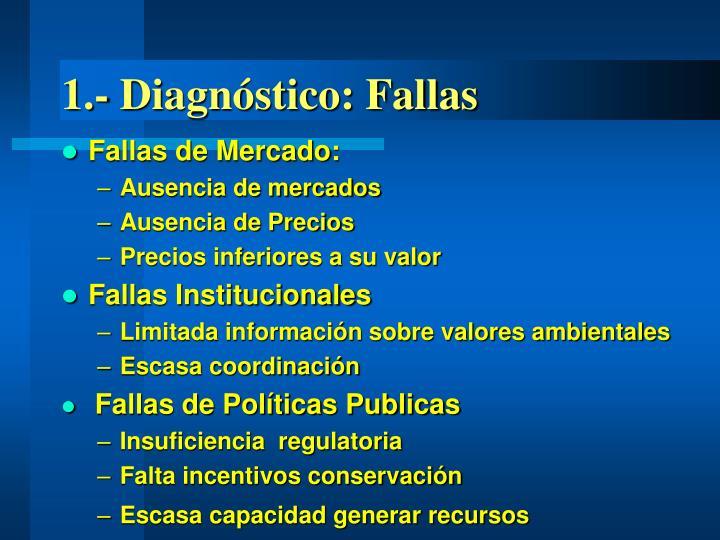 1.- Diagnóstico: Fallas