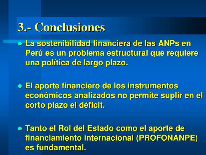 3.- Conclusiones