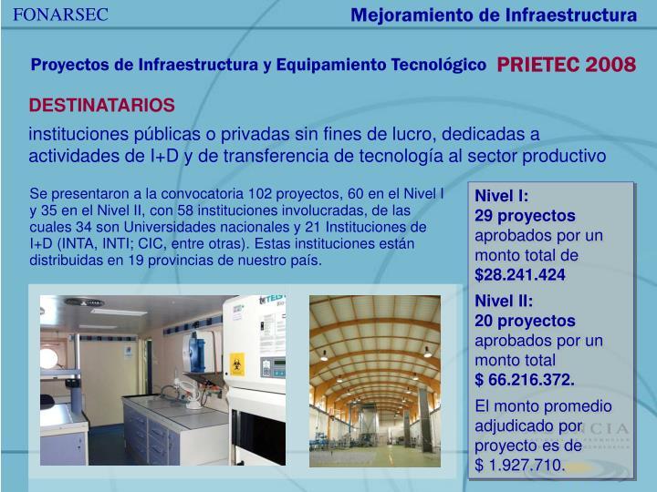 Mejoramiento de Infraestructura