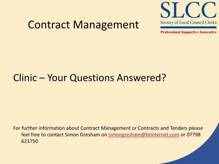 Contract Management