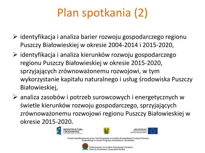 Plan spotkania (2)