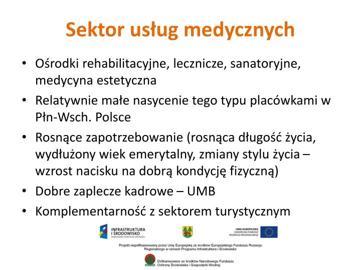 Sektor usług medycznych