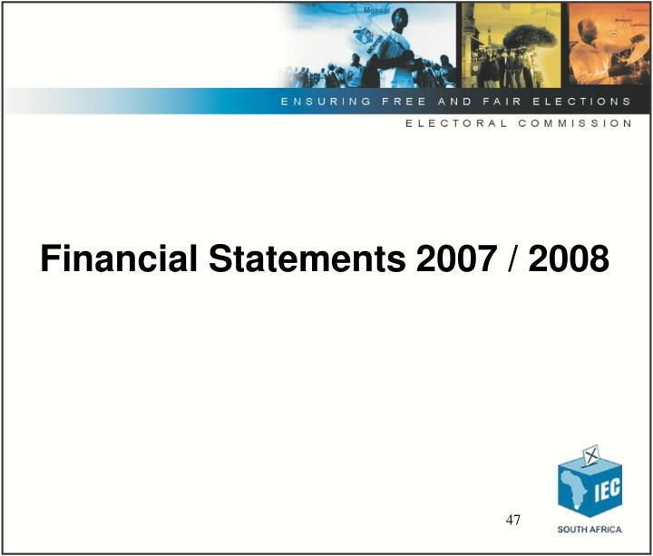 Financial Statements 2007 / 2008