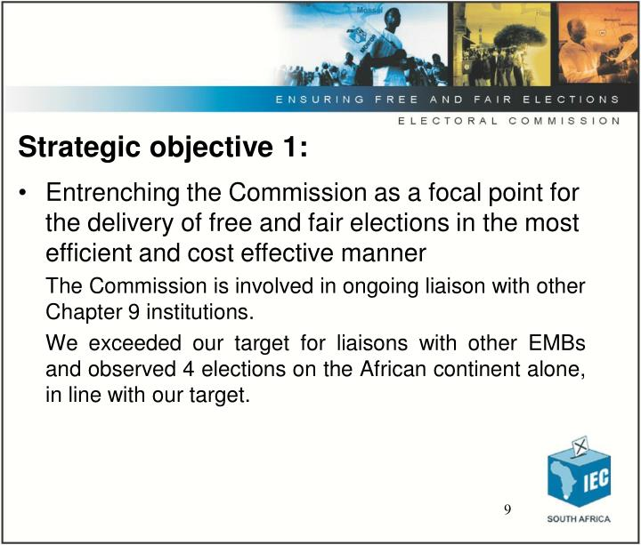 Strategic objective 1: