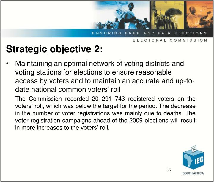 Strategic objective 2: