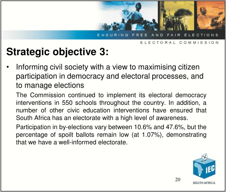Strategic objective 3: