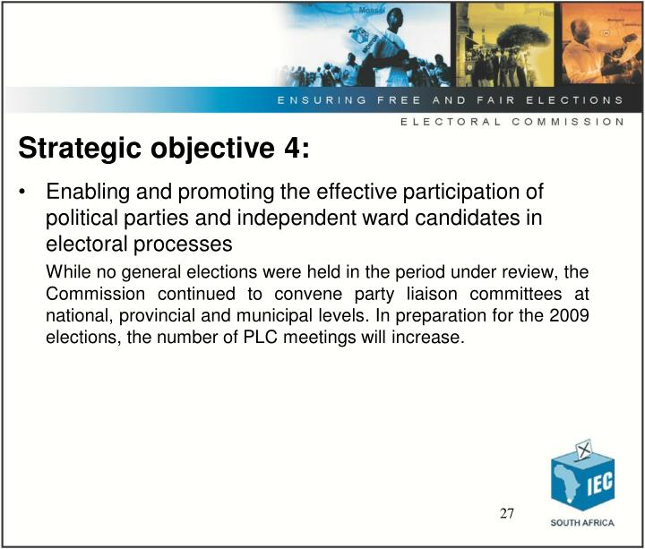 Strategic objective 4: