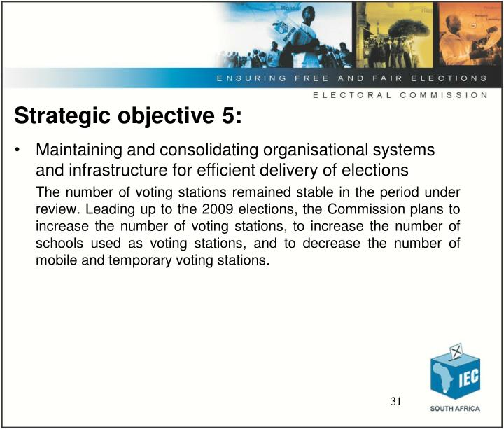 Strategic objective 5: