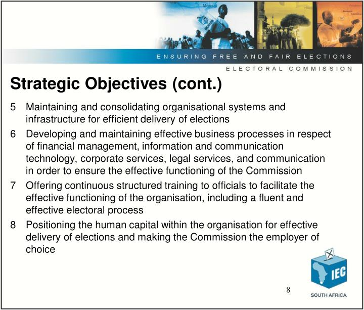 Strategic Objectives (cont.)