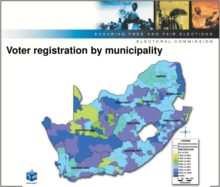 Voter registration by municipality