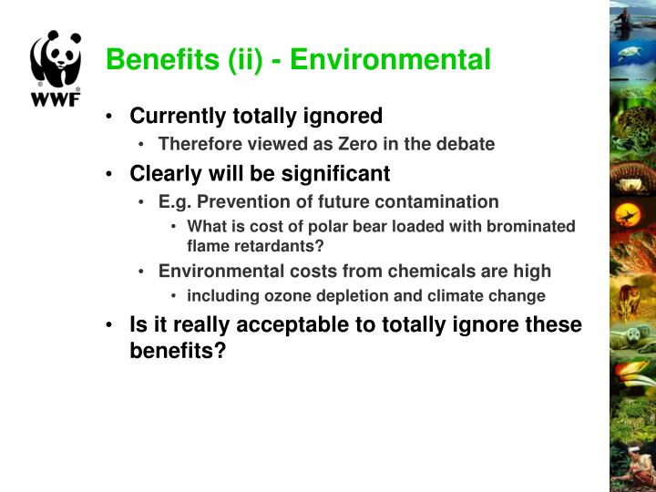 Benefits (ii) - Environmental
