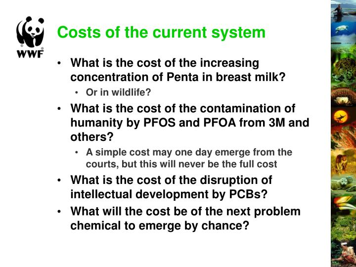 Costs of the current system