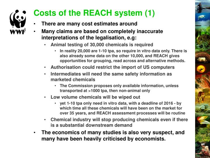Costs of the REACH system (1)