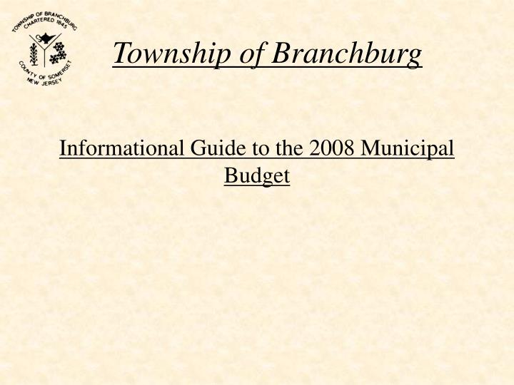 Informational guide to the 2008 municipal budget