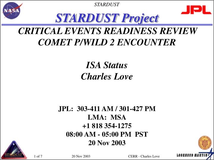 STARDUST Project