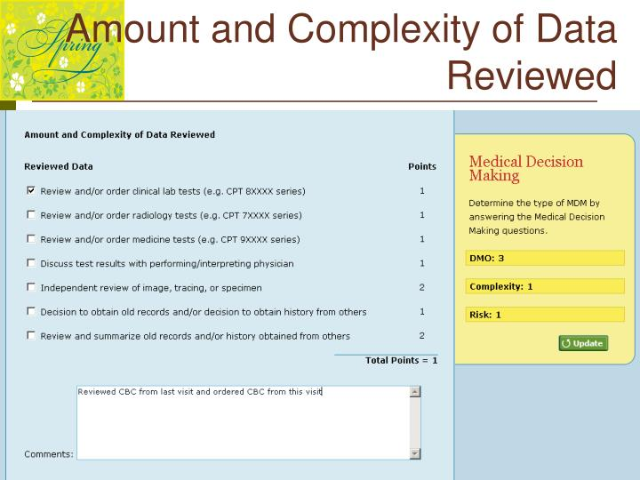Amount and Complexity of Data Reviewed