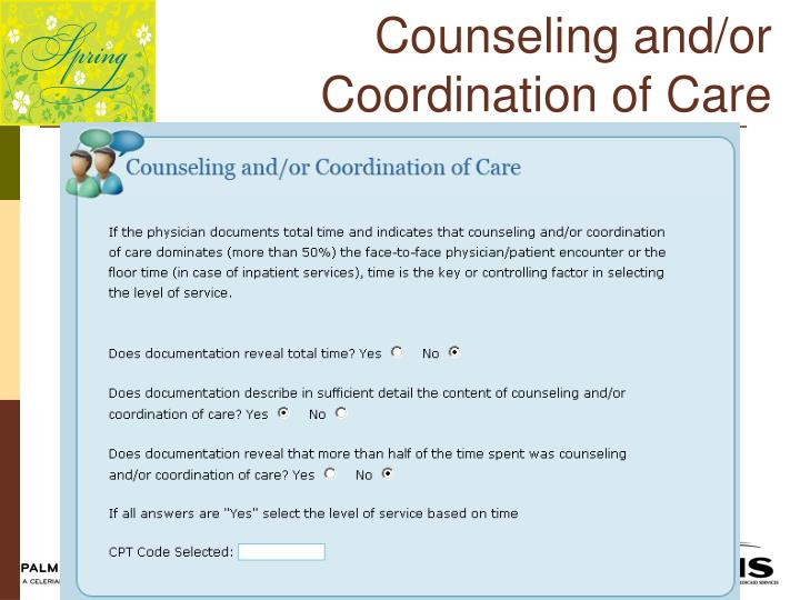 Counseling and/or