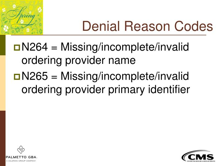 Denial Reason Codes