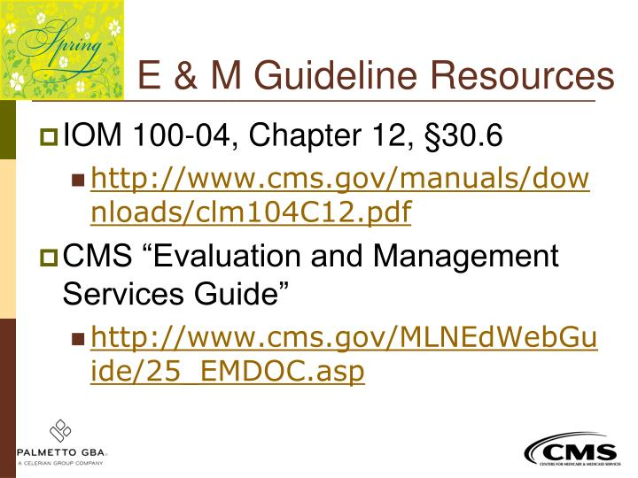 E & M Guideline Resources