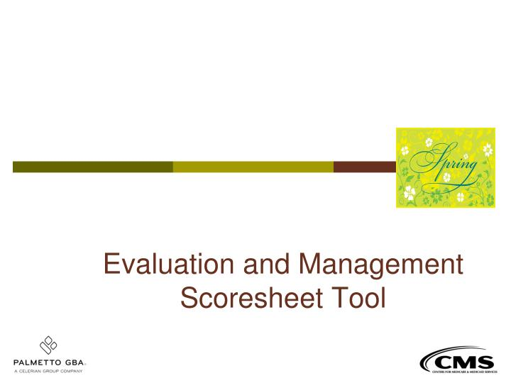 Evaluation and Management Scoresheet Tool