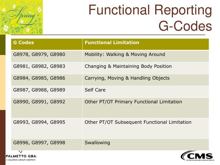 Functional Reporting