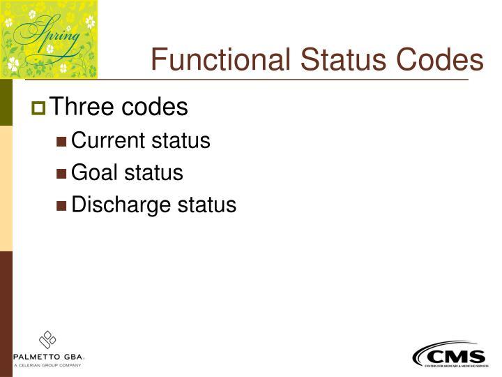 Functional Status Codes
