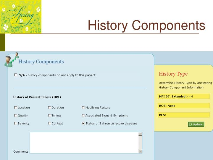 History Components