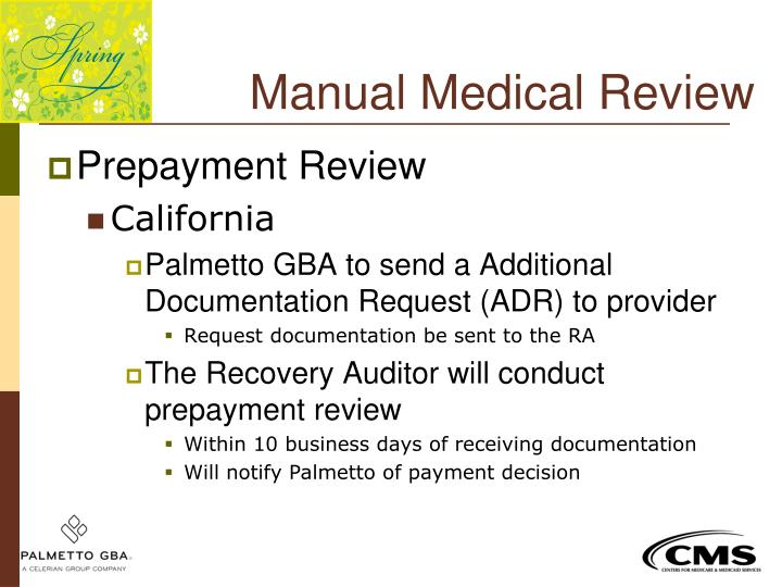 Manual Medical Review