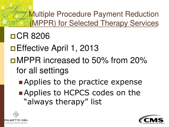 Multiple Procedure Payment Reduction
