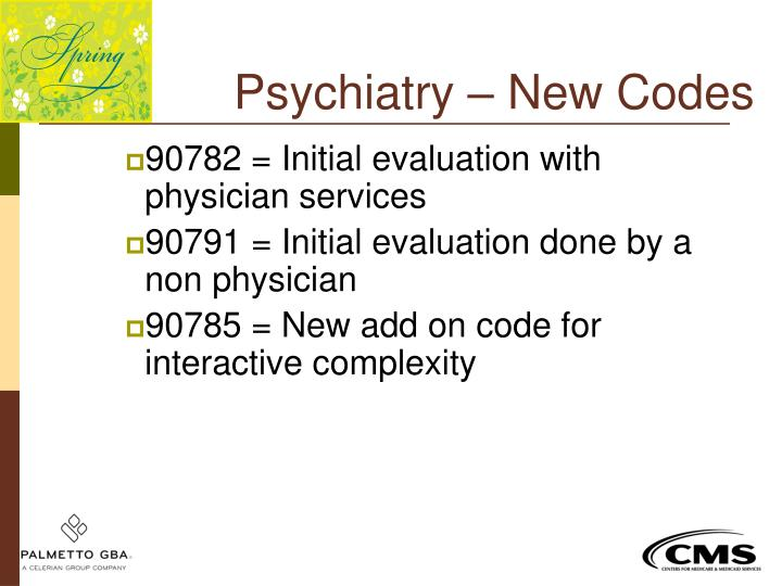 Psychiatry – New Codes