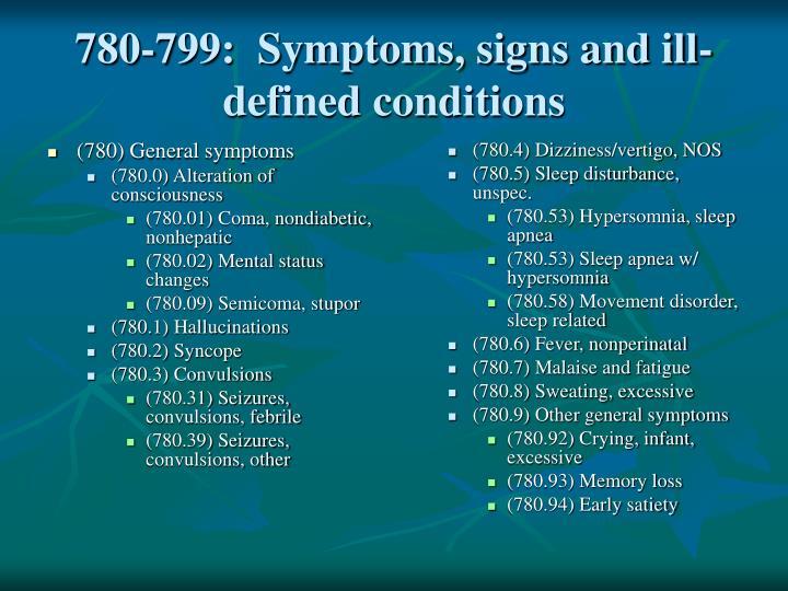 (780) General symptoms