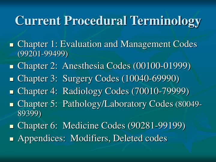 Current Procedural Terminology