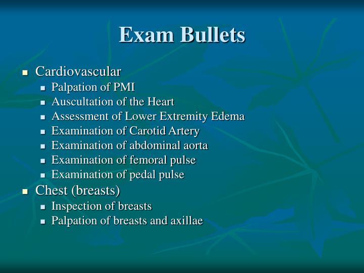 Exam Bullets