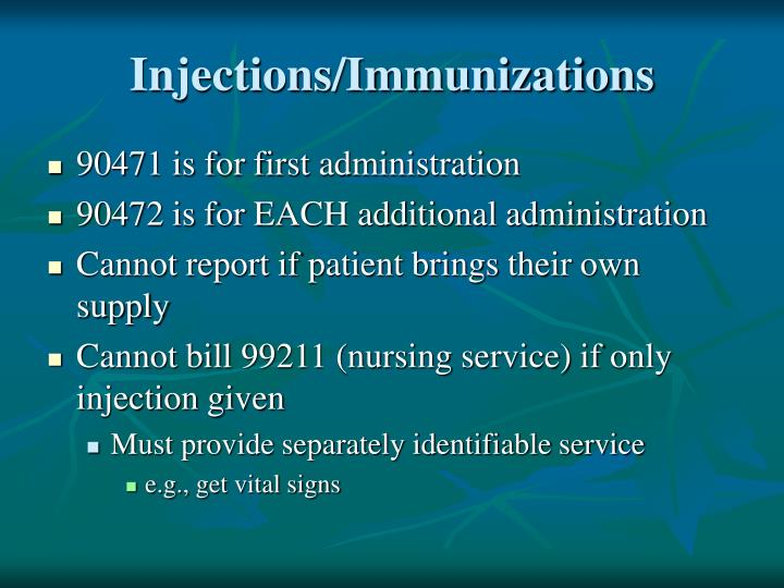 Injections/Immunizations