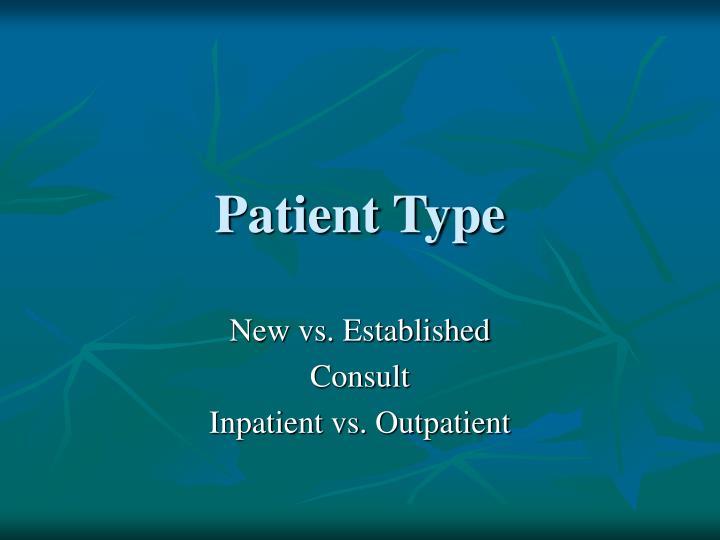 Patient Type
