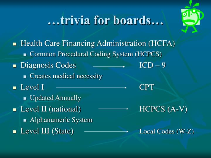 …trivia for boards…