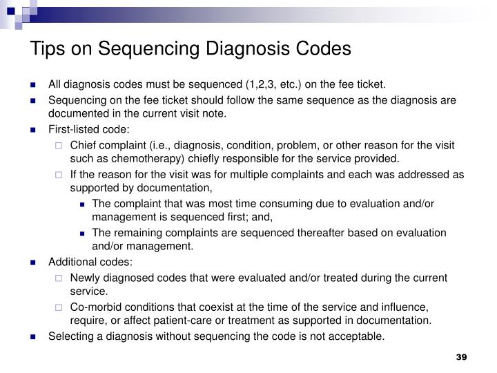 Tips on Sequencing Diagnosis Codes