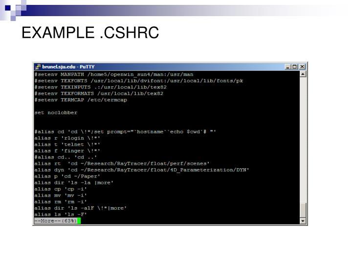 EXAMPLE .CSHRC