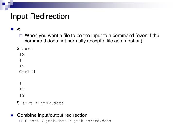 Input Redirection