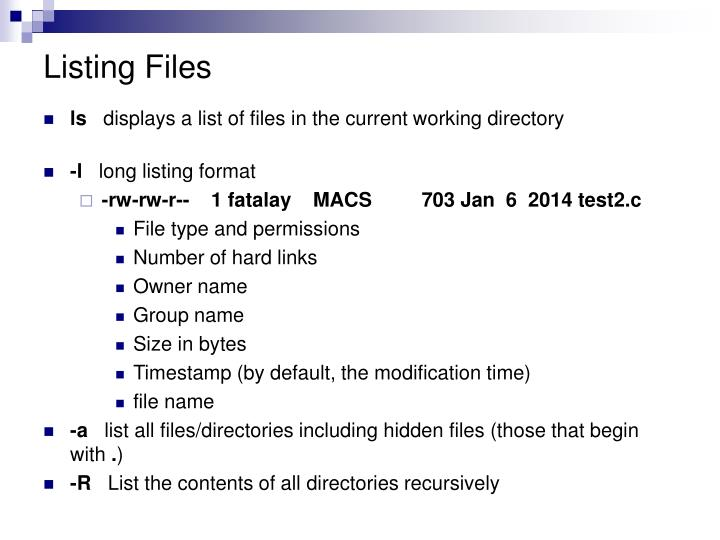 Listing Files