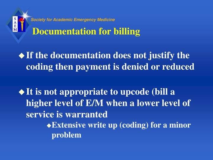 Documentation for billing