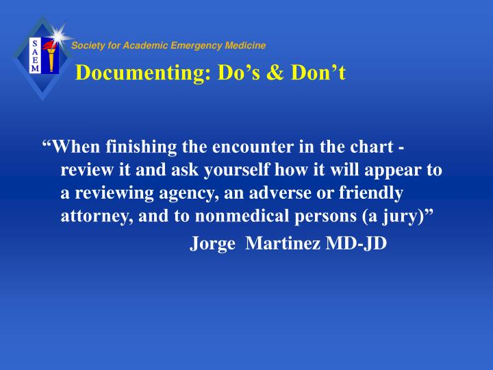 Documenting: Do's & Don't