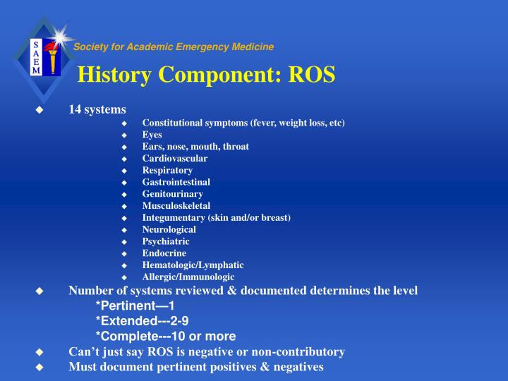 History Component: ROS