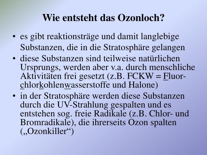 Wie Entsteht Ein Ozonloch
