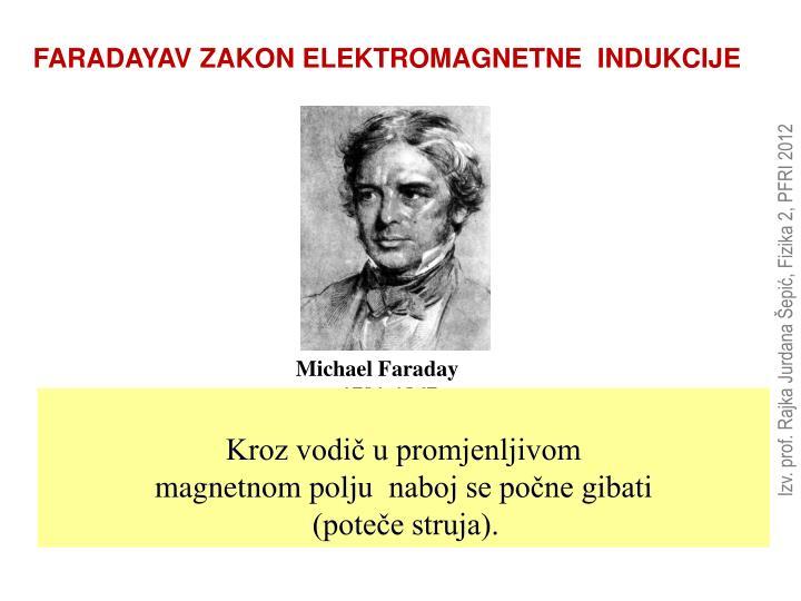 FARADAYAV ZAKON ELEKTROMAGNETNE  INDUKCIJE