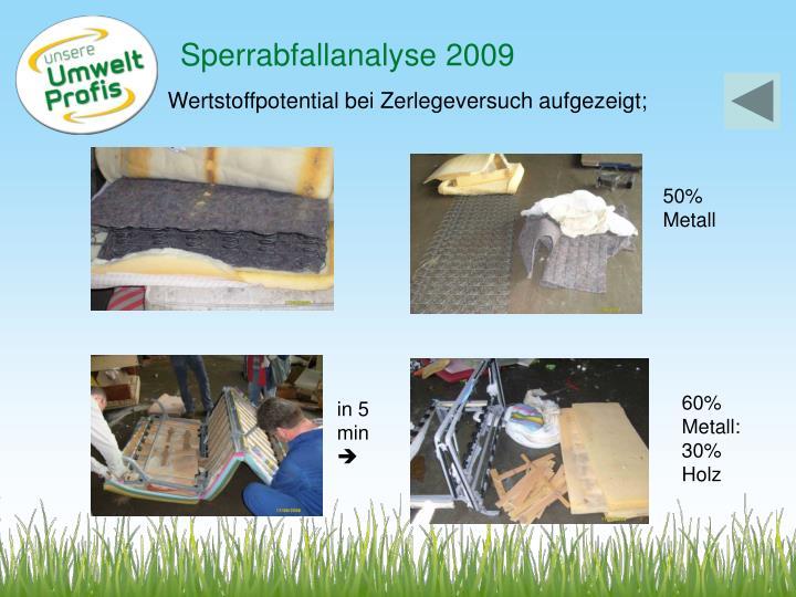Sperrabfallanalyse 2009
