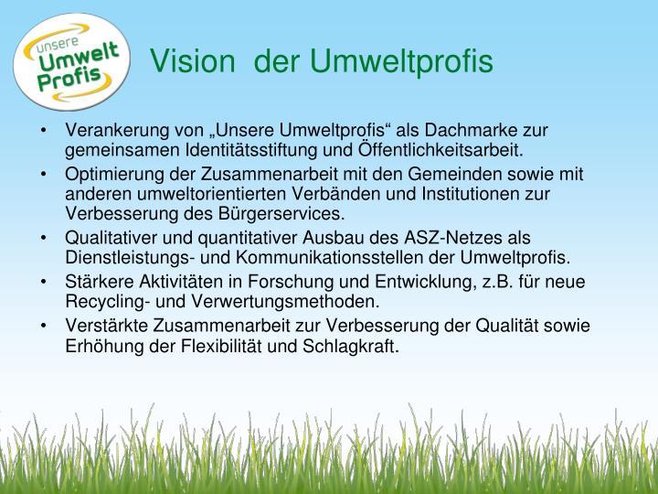 Vision  der Umweltprofis