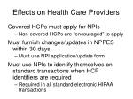 effects on health care providers