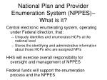 national plan and provider enumeration system nppes what is it
