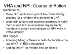 vha and npi course of action3